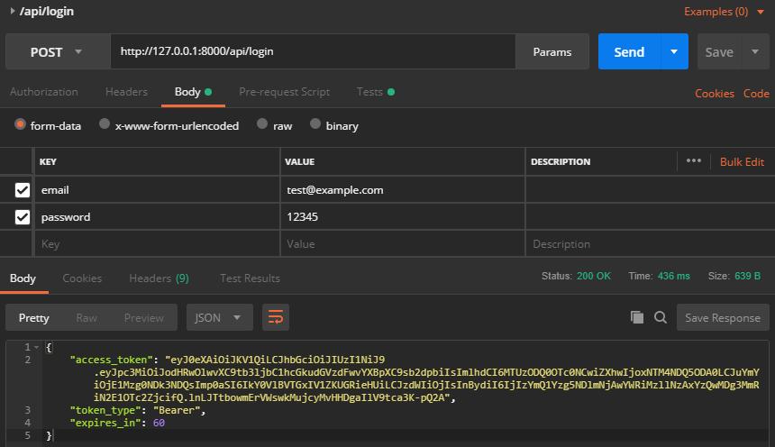 Use JWT to protect Laravel API - ScottChayaa